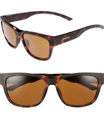 women's smith ember 56mm chromapop(tm) polarized square sunglasses - matte tortoise