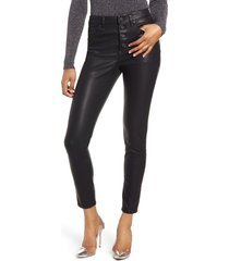 women's blanknyc faux leather button front pants