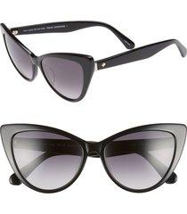 kate spade new york karina 56mm cat eye sunglasses in black at nordstrom