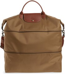 longchamp le pliage 21-inch expandable travel bag - brown