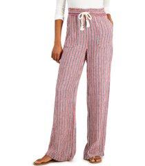 indigo rein juniors' striped drawstring-waist soft pants