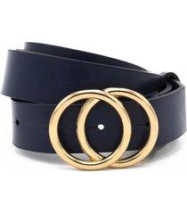 cinturon hebilla redonda azul lorenzo di pontti