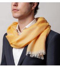 sciarpa da uomo, maalbi, cashmere seta tela gialla, quattro stagioni | lanieri
