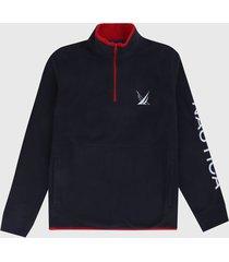 buzo azul oscuro-rojo-blanco nautica