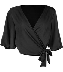 blusa kimono linda d preto