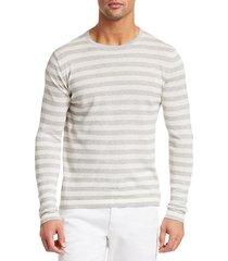 collection stripe long-sleeve sweatshirt