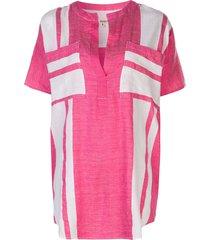 lemlem zoya pocket tunic shirt - pink