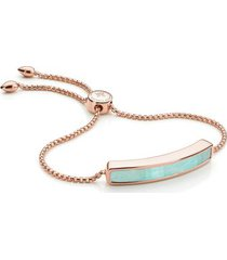 rose gold baja bracelet amazonite