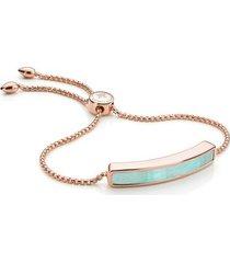 rose gold baja bracelet amazonite