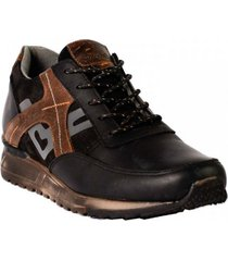 zapato sneaker para hombre san polos 3304 negro