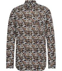 l/s shirts skjorta casual brun signal