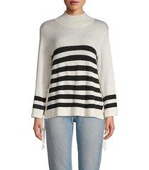 lantz striped funnelneck sweater