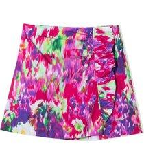msgm multicolour cotton skirt