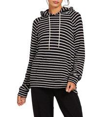 women's volcom li'l hoodie, size large - black