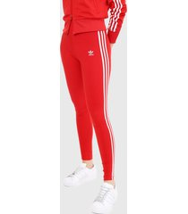 leggings rojo-blanco adidas originals classics 3 rayas