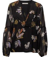 amali blouse ma18 blouse lange mouwen zwart gestuz
