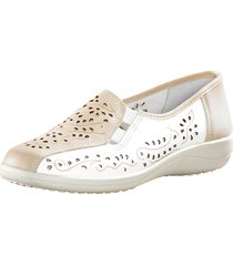 skor med luftigt hålmönster naturläufer vit