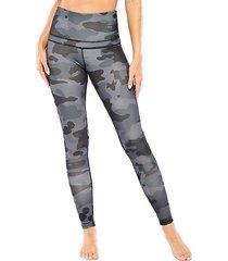 army coated high-rise leggings