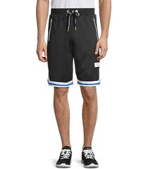 contrast-trim mesh shorts