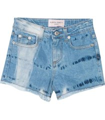 alberta ferretti denim shorts with back press