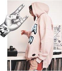 bluza hella snow hoodie pink
