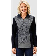 sweatshirt paola marine::grijs