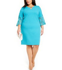 jm collection plus size bell-sleeve sheath dress, created for macy's