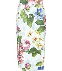 dolce & gabbana flowers skirt