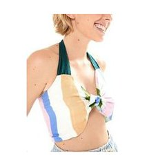 top cropped no re roupa off white - p