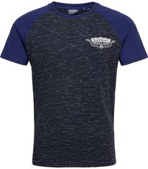 speedway raglan tee t-shirts short-sleeved blå superdry