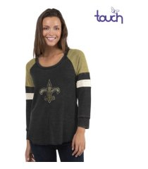 touch by alyssa milano new orleans saints women's distinct snap thermal t-shirt