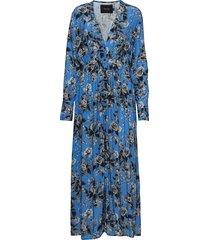 altona dress maxi dress galajurk blauw raiine