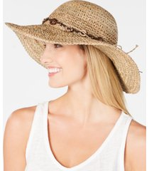 scala beaded crochet seagrass hat