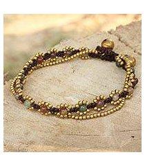 jasper beaded bracelet, 'festive day' (thailand)