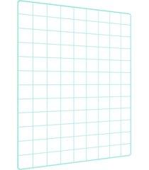 memory board quadro de fotos verde água - 65cm x 45cm + 6 mini prendedores