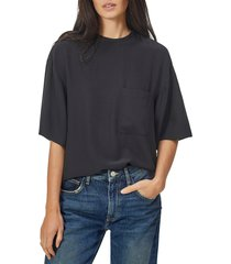 women's equipment viannet silk blouse, size x-small - black