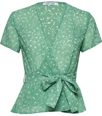 klea ss blouse aop 6621 blouses short-sleeved groen samsøe samsøe