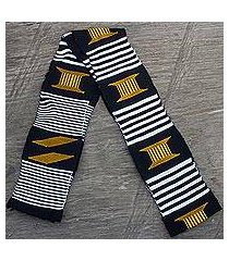 cotton scarf, 'seat of the king' (1 strip) (ghana)
