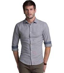 camisa buckman casual fio tinto masculina