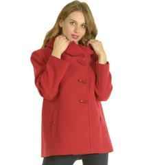 abrigo corto rojo bou's