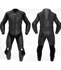 black motogp motorcycle leather suit racing cowhide leather suit one piece all s