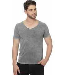 camiseta alfaiataria burguesia metalist cinza fosco - kanui