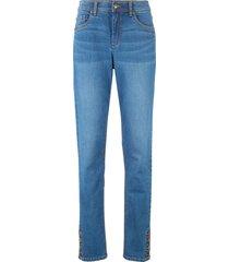 jeans con cinta comfort e bottoni (blu) - bpc bonprix collection
