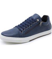 sapatenis sandalo vintage marinho - azul marinho - masculino - dafiti