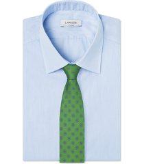 cravatta su misura, lanieri, seta twill verde, quattro stagioni | lanieri