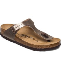 gizeh shoes summer shoes flat sandals silver birkenstock