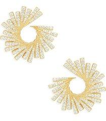 adriana orsini women's gia2 goldplated sterling silver & cubic zirconia earrings
