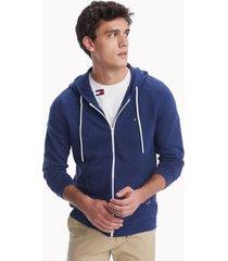 tommy hilfiger men's essential sweater hoodie blue depths - xs