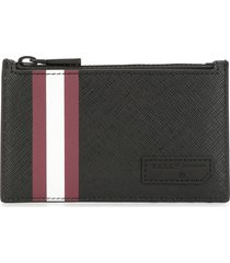 bally embossed logo zipped pouch - black