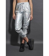 pantalón plateado 47 street galaxy e.